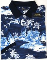 NEW $125 Polo Ralph Lauren Short Sleeve Mesh Shirt Mens Island Blue Cotton NWT