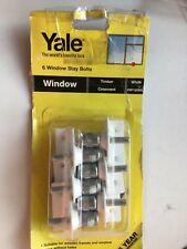 Locksmiths Yale Window Stay Locks Pack Of 6 White. 6 locks per pack. Old stock.