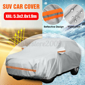 Car Cover Waterproof Sun UV Snow Rain Resistant All Weather SUV Protection 190T