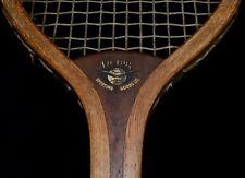 Dramatic Vintage Wood 1910 Victor The Plum Unusual Head Tennis Racket
