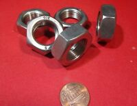 "Thin Hex Nut, 316 Stainless Steel, RH  3/4""-16 x 27/64"" Height - 5 Pcs"