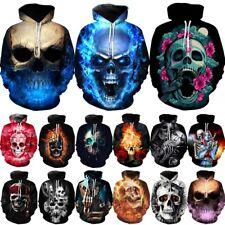 Skull Horror 3D Print Mens Womens Hoodie Sweatshirt Pullover Jumper Hooded Coat