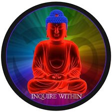 "1 - 4"" Inquire Within Decal Sticker Buddha Om Yoga Chakra Peace Reiki  2118"