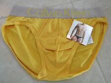 NEW Calvin Klein Steel Microfiber Hip Brief Underwear MEN XL YELLOW $24