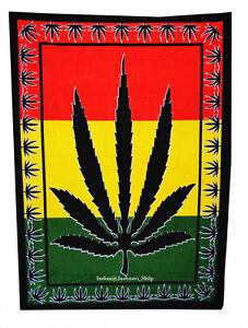 "30""X40"" Marijuana Leaf Bob Marley Cotton Wall Hanging Tapestry Poster Decor"