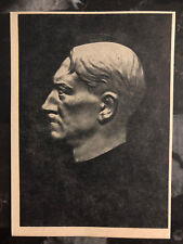 Mint WW 2 Germany Waffen SS Postcard Anti Stalin Worthless Imprint Leader bust