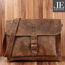 LECONI Messenger Bag Aktentasche Damen Herren Leder vintage braun LE3054-vin