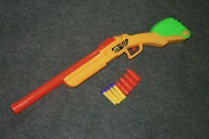 Buzz Bee Double Shot Shotgun Shell Dart Gun Cosplay Toy Blaster 4x Darts Shells