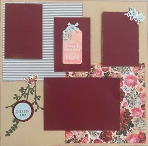 """Handmade Premade Scrapbook Page Layout ~ ABOUT THE STORY ~ 12"""" x 12"""""""