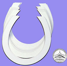 Wedding Bridal Horseshoe Cut-out Cardboard Blank Shapes Packet of 20