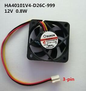 SUNON HA40101V4-D26C-999 4010 4CM 12V 0.8W 3-pin magnetic suspension silent fan