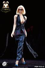 PopToys 1/6 F23C Monroe Dress Suit_ Blue Set w/ high-heel shoes _Female PT045C