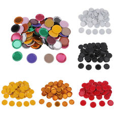100x Flat Double Sided Linerless Bottle Caps Flattened Craft Embellishment