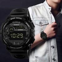 HONHX Mens Digital LED Watch Date Sport Watch Men Electronic Wristwatch