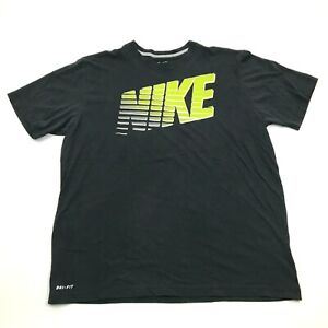 Nike Retro Spell Out Shirt Big Logo Black Loose Fit Tee Size Extra Large XL Mens