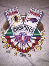 Vintage Buffalo Bills Super Bowl XXVI Jim Kelly Washington Redskins T-shirt L