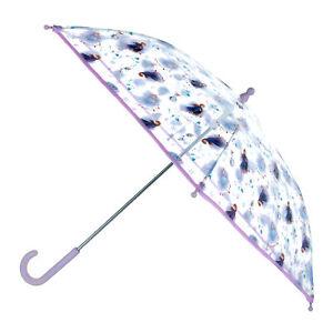 New Textiel Trade Kid's Disney Frozen Elsa and Anna Transparent Stick Umbrella
