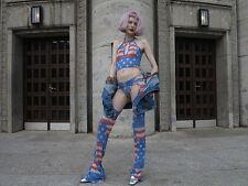 Uncle Sam stars and stripes Loveparade rave 90er True Vintage go go dance dress