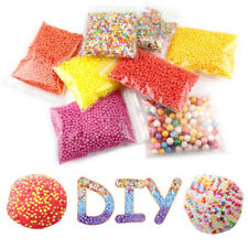 15Pack Mini Foam Bead With Slime Tools And Fruit Slice For Kid Art DIY Craft Toy