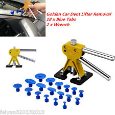Car Body Paintless Dent Repair Tool PDR Puller Hail Removal+18 Glue Pulling Tabs