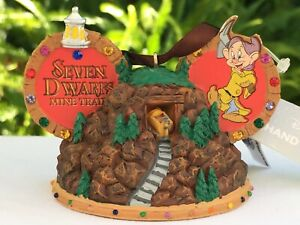 Disney Parks WDW Snow White Seven Dwarfs Mine Train Ride Ear Hat Ornament NEW