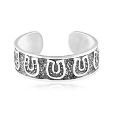 Silver 925 Adjustable Jewelry Gift Horseshoes Toe Ring Genuine Sterling