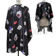 Black Poker Salon Barber Hairdressing Hairdresser Hair Cutting Cape Gown Clothes