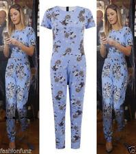 Plus Size Scoop Neck Floral Jumpsuits & Playsuits for Women