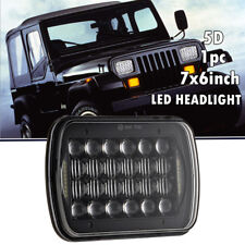 "7""x6"" 5""x7"" 120W Square LED Light Bulbs Hi/Lo Beam Headlight DRL For Jeep XJ YJ"