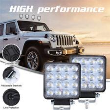 Square 160W LED Work Light 12V 24V Off Road Flood Spot Lamp For Car Truck SUV