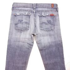 Women's 7 For All Mankind Rocker Boot Cut Distressed Jeans Size 29x32 BR10