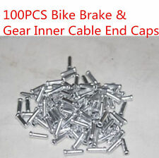 100Pcs Aluminium Alloy Bicycle Shifter Bike Brake Gear Inner Cable End Caps Part
