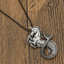 Vintage Charm Hippocampus Mermaid Fishtail Necklace Sweater Jewellery Decoration