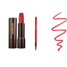 Hourglass panoramic long wear liner Raven Authentic & femme rouge lipstick Raven