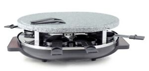 Swissmar 8 Person Matterhorn Oval Raclette Party Grill with Granite Stone Grill