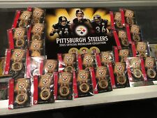 2005 PITTSBURGH STEELERS OFFICIAL MEDALLION COLLECTION 25 COINS BOOK COMPLETE