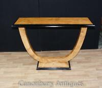 Art Deco Oggee Console Table Blonde Walnut Hall Tables