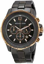 New MICHAEL KORS Chronograph Quartz Gunmetal Dial Men's Watch