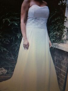 Ivory chiffon  bridal gown size 18 victoria kay