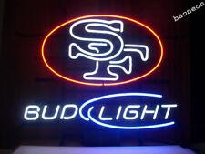 BUD LIGHT SAN FRANCISCO 49ERS BEER BAR PUB NEON LIGHT SIGN Fast Shipping