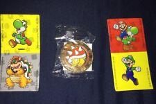 Wonder Ball Super Mario Spiny Coin  & Stickers -  Unopened - Nintendo - Rare