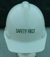 Safety First Sperian White Hardhat-Cap Style-Willson Ratcheting Suspension-Euc