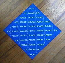 "The Police Synchronicity Concert Tour Blue Bandana 21"" Square Handkerchief 1983"