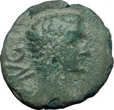 AUGUSTUS 27BC Philippi Macedonia PRIESTS Founding City Oxen Roman Coin i59281