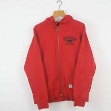 Vintage NIKE Red Oregon Full Zip Hoodie Jacket   Athletic Air Sport   Large L