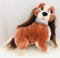 "Vtg Disney Disneyland Lady & The Tramp 14"" Lady Long Ears Stuffed Toy Plush"