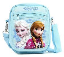 """8"""" Disney Frozen Elsa and Anna Detachable Lanyard Messenger Shoulder Bag- Blue"""