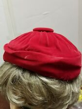 red velvet ladies hat church party dress up