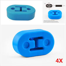 Universal Short 4Pcs Polyurethane Car Muffler Exhaust Hanger Hangers Blue 12mm