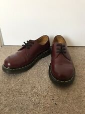 Womens Dr Martens 1461 Smooth Leather Cherry Red Shoes Size 4